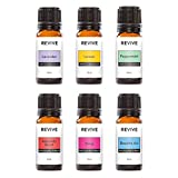 REVIVE Essential Oils BASICS KIT - 100% Pure Therapeutic Grade, For Diffuser, Humidifier, Massage, Aromatherapy, Skin & Hair Care - Cruelty Free - Unrefined Oils With No Fillers.