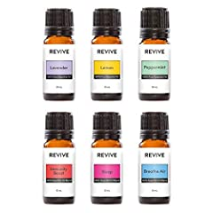 The REVIVE Basics Kit includes 6 full-sized bottles of our favorite blends and essential oils: Lavender, Lemon, Peppermint, Immunity Boost, Sleep, Breathe Air. REVIVE Essential Oils & Blends will help you sleep, improve upset stomach, reduce anxious ...