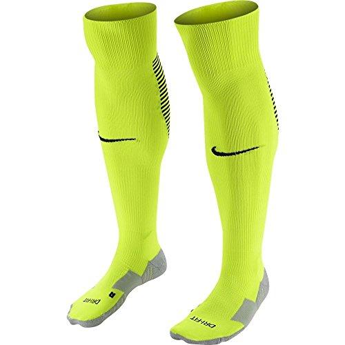 Nike Unisex erwachsene Matchfit Cushioned Sockenstutzen, Grün (Neongrün/Schwarz/702), S (34-38 EU)