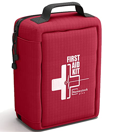 【2021 New】Professional First Aid Kit, Trauma Kit with Labelled Compartments Molle System for Car, Hiking, Backpacking, Camping, Traveling, and Cycling