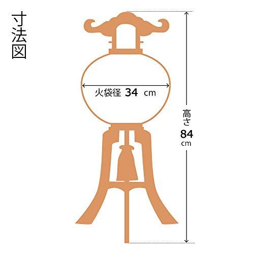 滝田商店『盆提灯大内行灯ケヤキ調11号』