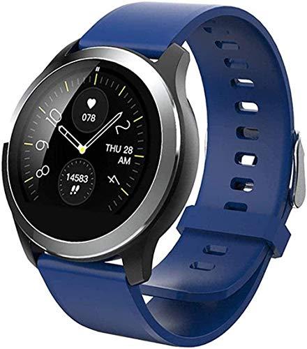 1.2 pulgadas reloj inteligente ECG+PPG sueño monitoreo ejercicio podómetro IP68 impermeable 180mAh batería de litio-Rojo-Azul