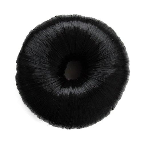 Knotenringe Knotenrolle Haarknoten Dutt Donut Bun Up Do Div. Farben (schwarz)