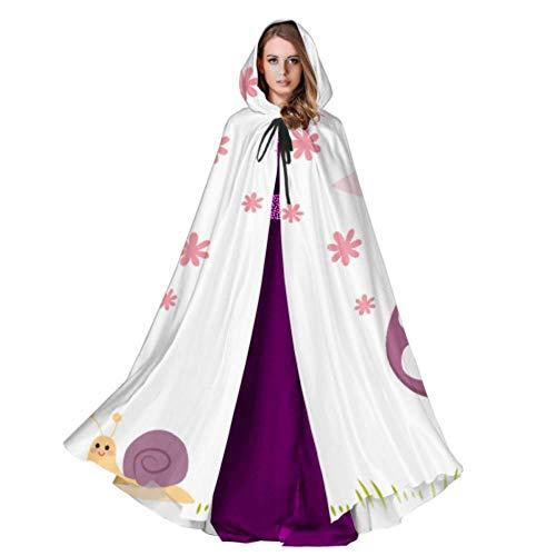 QuqUshop Nette Fee, die auf Pilz-Kap-Mantel für Frauen-erwachsenes Mantel-Muster 59inch für Weihnachtshalloween-Cosplay-Kostüme sitzt