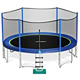 Zupapa 15 14FT Trampoline for Kids with Safety Enclosure Net 425LBS...