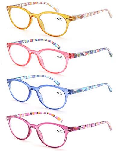 Un Pack 4 Gafas Lectura 2.25/Gafas Presbicia Mujeres,Buena