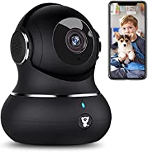 [2021 Upgraded] Indoor Security Camera, Littlelf 1080P Home WiFi Wireless IP Camera for Pet/Baby Monitor with Motion Tracking, 2-Way Audio, Night Vision Cloud (Black)