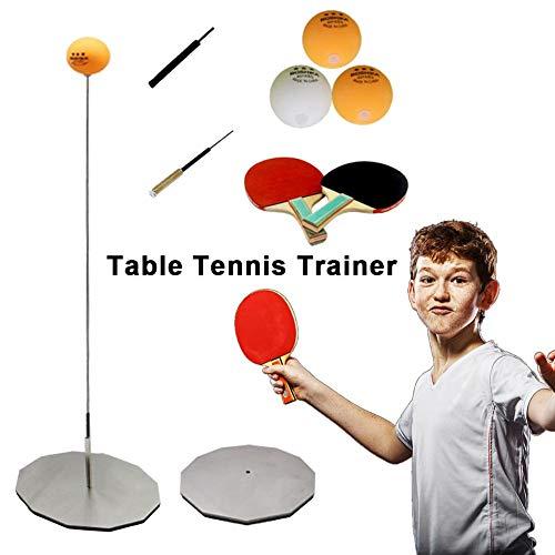 Further - Allenatore da Ping Pong con Manico Morbido ed Elastico, Composto da 2 Pallet da Ping Pong e 3 Palle da Ping Pong, Set da Tennis da Tavolo per Principianti