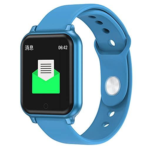 Pantalla a Color Pulsera Inteligente frecuencia cardíaca monitorización de la presión Arterial Bluetooth Ejercicio-Azul