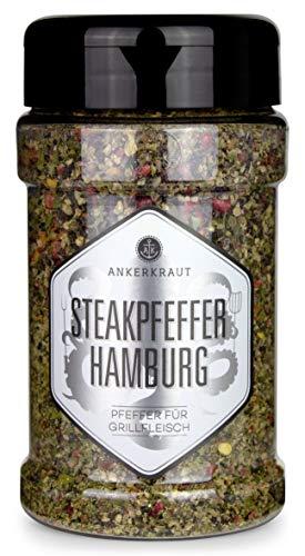 Ankerkraut Steakpfeffer Hamburg, die hanseatische Pfeffer-Mischung für den Grill, 170g im Streuer