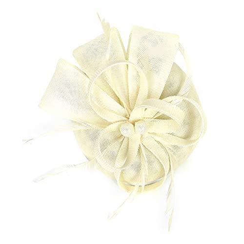 Lurrose Tocado con flores para fiesta de té, sombreros vintage de plumas,...