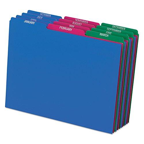 "Pendaflex Poly File Guide Sets - Printed Tab(s) - Month - January-December - 8.5"" Divider Width x 11"" Divider Length - Letter - Assorted Polypropylene Divider - Assorted Tab(s) - 12 / Set"