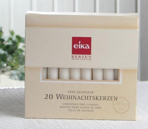 Eika-Baumkerzen (20er Pack), 10,5 x 1,25 cm Ø, Champagner