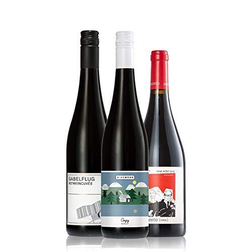 GEILE WEINE Weinpaket Rotwein trocken klein (3 x 0,75l) Bester Rotwein aus Deutschland und Spanien