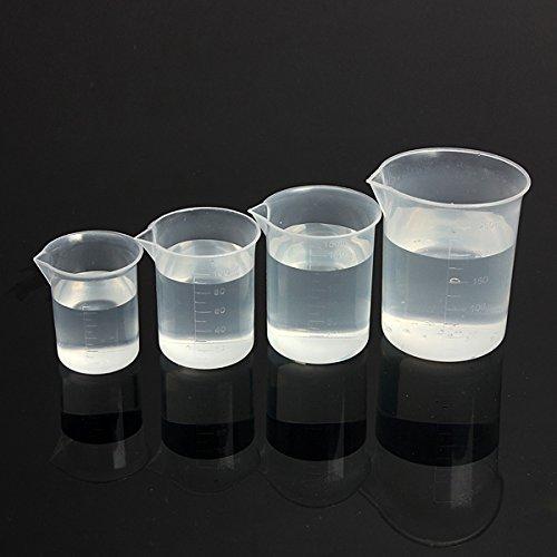 Bluelover 4st Laboratory keuken test plastic beker maatbeker