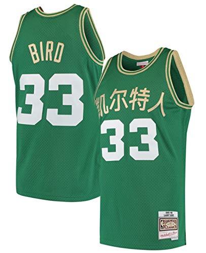 Mitchell & Ness Larry Bird Celtics Men's 2019 Chinese New Year Swingman Throwback Jersey (3X-Large)