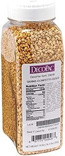 Decopac Confetti Gold Quins Sprinkles 19.5 oz.