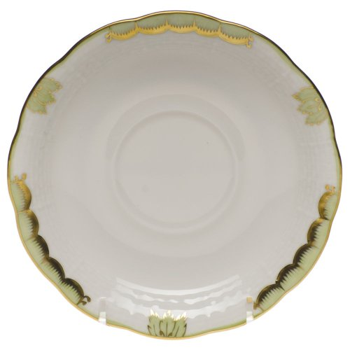 Herend Princess Victoria Green Porcelain Tea Saucer