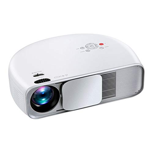 ZXCVASDF Full HD Projector, 1920 * 1080P, Support 4K, 4000 Lumens, 50,000 Hours of Use, Portable Home Theater, Compatible with VGA USB HDMI AV AUD,White