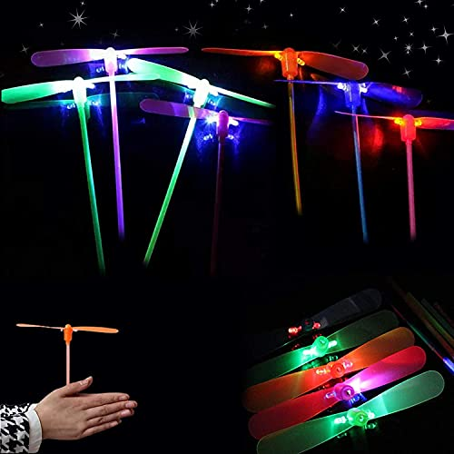 Sunshine smile Helicóptero Vuelo Juguete,Juguete de Fiesta Infantil,Juguete Volador,Juguete de Libélula de Bambú,Volador Luminoso (50 Piezas)