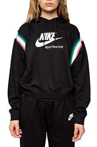 Nike Damen Sportswear Heritage Po Hoodie, Black/Sail/White, M