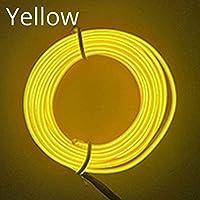 車のパネルネオンランプ,1倍の車のドアストリップLEDの雰囲気の車のラインランプの内部装飾的なライトダッシュボード読みロープ線の可撓性ランプ12V青い線 (Color : 5M USB Drive, Emitting Color : Yellow)