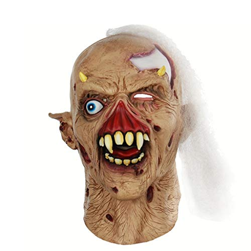 HUOQILIN Halloween Horror, Zombie Latex Spook Masker