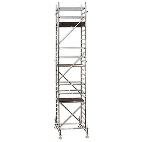ALTEC Rollfix 800, Arbeitshöhe 8 m neu, inkl. Traverse, höhenverstellbarer Fußplatten und Wandanker, TÜV-geprüft,