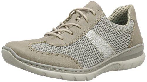 Rieker Damen L3237 Women Low-Top Sneaker, Grau (elefant/frost/ice / 42), 38 EU