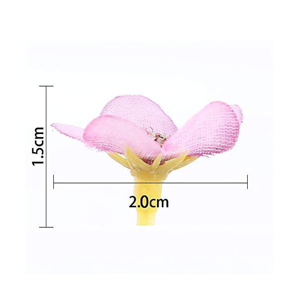 AISE 100Pcs Cabezas de Flores de Margarita Multicolores 2cm Mini Flores Artificiales de Seda para Guirnalda Scrapbooking…