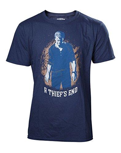 Uncharted 4 T-Shirt -XL- A Thief's End, blau