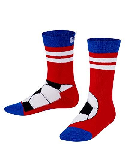 FALKE Unisex Kinder Active Soccer Socken, rot (red pepper 8074), 31-34