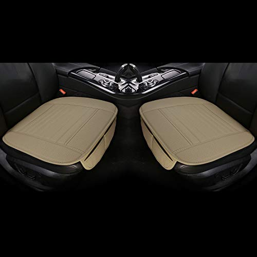 EDEALYN 2 Pcs PU Leather Universal Car Seat Covers Car Interior...