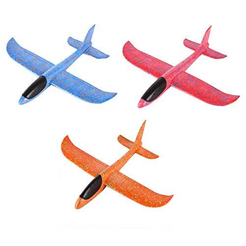 Zhen+ Flugzeug Gleiter, 1 | 3 Stück Styroporflieger Flugzeug, Kinder Flugzeug Spielzeug Outdoor Wurf Segelflugzeug Werfen Fliegen Modell für Kindergeburtstag, Spiele, Preise (Mehrfarbig)