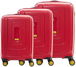 American Tourister Luggage Trolley Bags Set Of 3 Pieces, Red, Ad840004, Unisex
