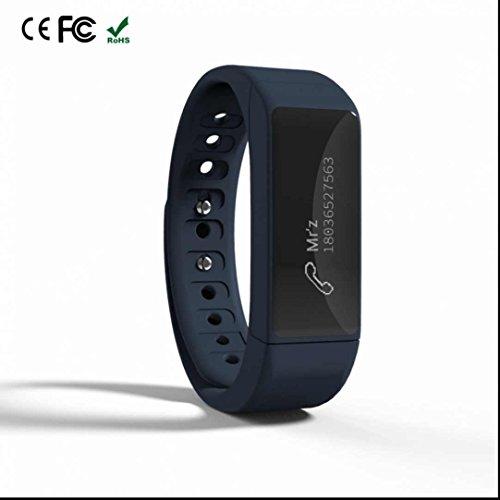 Bracelet Connectée Fitness Tracker d'Activité,Bumper et Anti-Scratch,Fitness Tracker,Podomètres,Cardiofréquencemètres,Weather Remind,Avec Ecran Tactile Magnétique Recharge pour Android/Apple iOS
