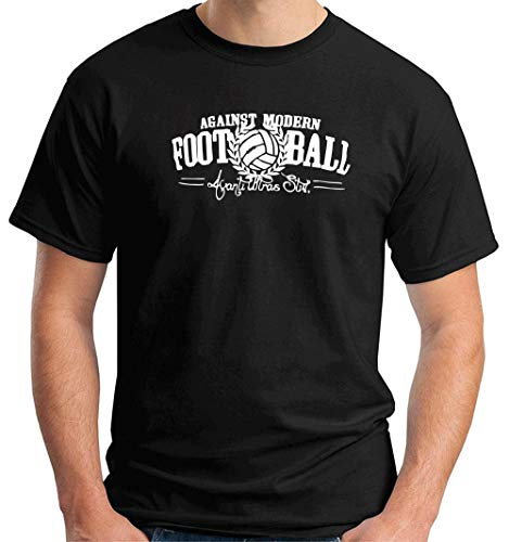 T-Shirt Hombre Negro TUM0163 Against Modern Football