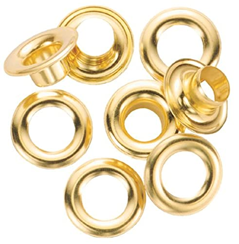 General Tools 1261 0 Grommet Refill with 24 Rustproof Solid Brass Grommets, 1/4-Inch