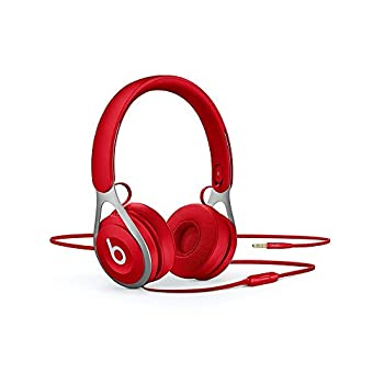 Beats Ep Wired On-Ear Headphones - Battery Free for Unlimited Listening Built in Mic and Controls - Red