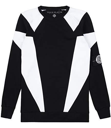 Team Platin Sweater Diamond Schwarz, Farbe:schwarz, Größe:L