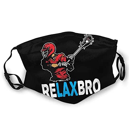 Relax Lacrosse Gesichtsmaske für Damen & Herren Anti Filter Staub Verstellbar Wiederverwendbare Tuch Waschbar Masken Schwarz