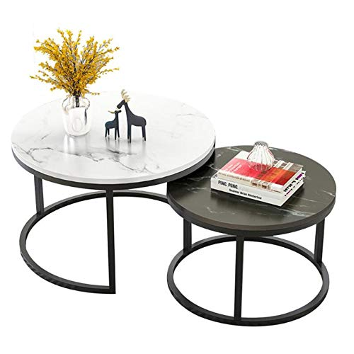 Modern Side Table/Coffee Table/End Table - Living Room Bedroom Balcony Sofa Side Decorative Nesting Table - MDF/Steel