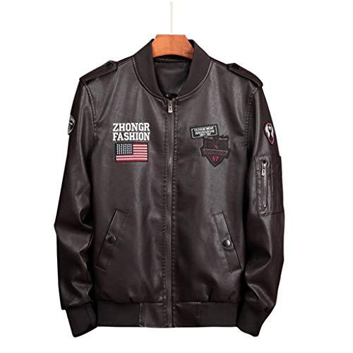 Mens Air Force Bomber Lederen Jacke Motorbike Bovenkleding Mannen Motorjas Biker Moderne Top Winddicht Klassieke Maat Groot Bruin Zwart