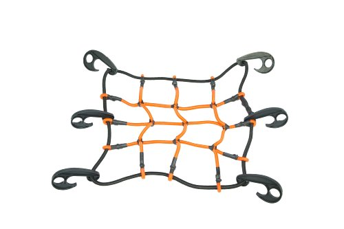Heininger 4249 HitchMate 12quot x 12quot StretchWeb Cargo Net with Bag and Hooks