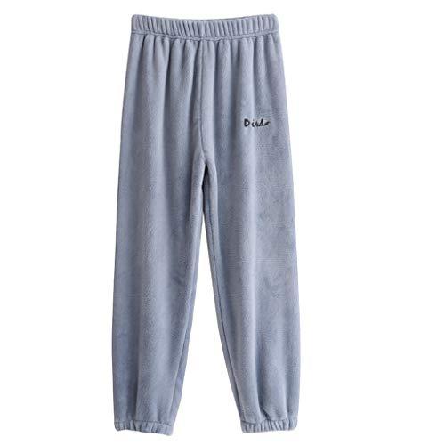 Moneycom (2A-9A Enfants Garçons Filles Casual Bas Épais Polaire Hiver Chaud Pantalon Lâche Pantalon Pantalon Bleu(8-9 Ans)