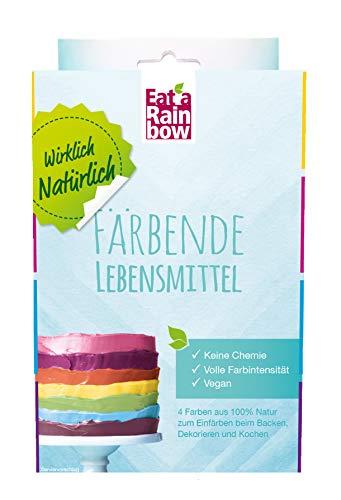 Eat a Rainbow Natürliche Lebensmittelfarbe 4 x 10g Farben Set Pulver - Lebensmittel färben ohne Chemie