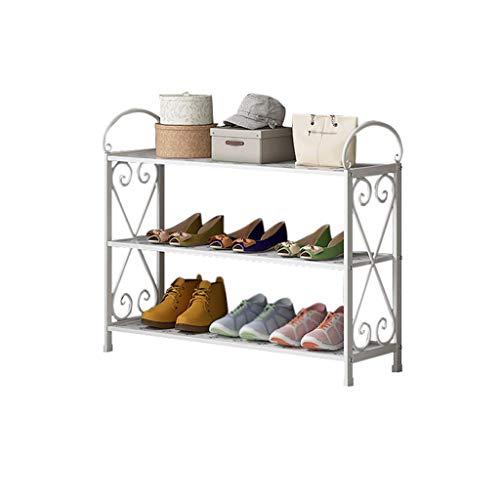 Xiuyun Support à chaussures 3 niveaux permanent de stockage organisateur de décoration de cadre en métal peut être utilisé comme étagère de stockage (Color : A, Size : S)