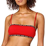 Calvin Klein Bandeau-rp Parte Superior de Bikini, Rojo rústico, M para Mujer