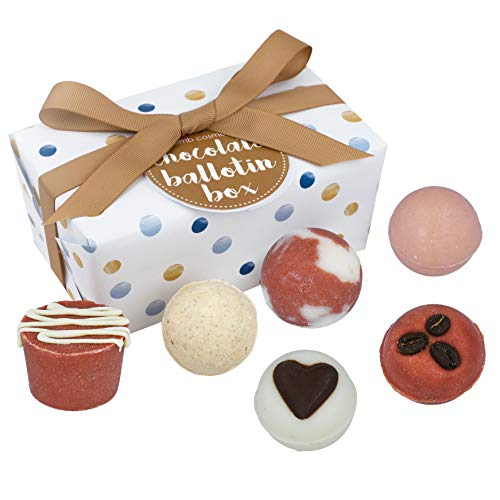 Bomb Cosmetics - BALCHOC6 - Coffret Cadeau Bain en Forme de Chocolat/ Coeur Rose