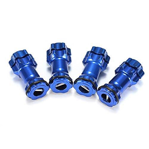Parti di Ricambio RC 1/8 in Lega di Alluminio 17 mm Estensione Adattatore mozzo Esagonale Ruota 30 mm Ricambi Auto Rc Blu